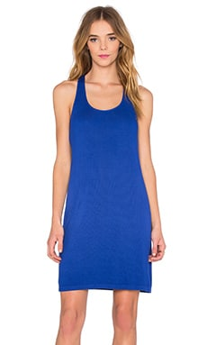 Crinkle Gauze Tank Dress in Cobalt Blue