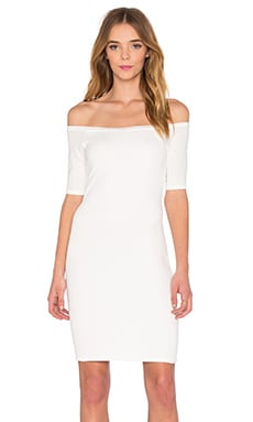 2x1 Rib Bodycon Dress in White