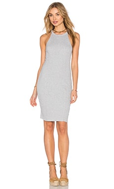 Splendid 2 X 1 Midi Dress in Heather Grey