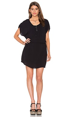 Crinkle Gauze Dress en Noir