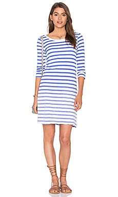 Sunfaded Stripe Jersey Mini Dress in Monaco