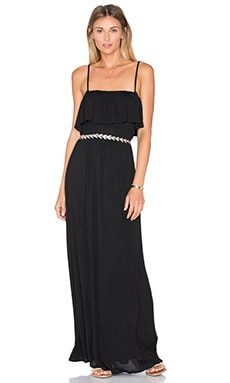 Splendid Drapey Lux Maxi Dress in Black