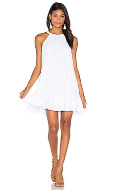 Dover Clip Dot Mini Dress en Blanc