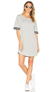 Varsity Dress in Heather Grey