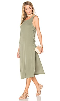 Sandwash Rib Dress in Moss