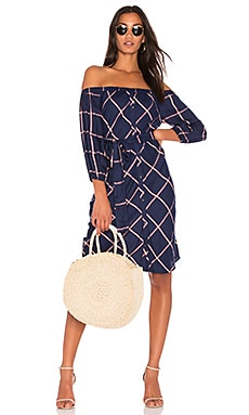 Reily Plaid Off the Shoulder Dress