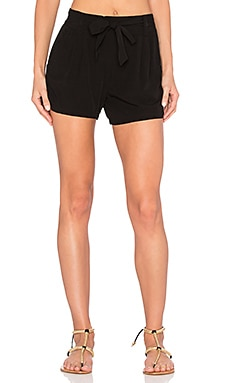 Rayon Voile Short in Black