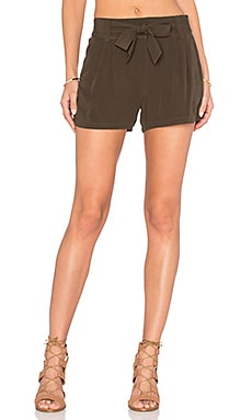Rayon Voile Short in Military Olive