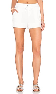 Cozy Modal French Terry Short in White