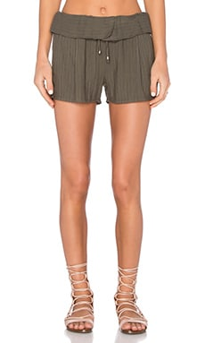Splendid Marina Pinstripe Short in Military Olive