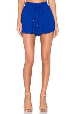 Crinkle Gauze Short in Cobalt Blue