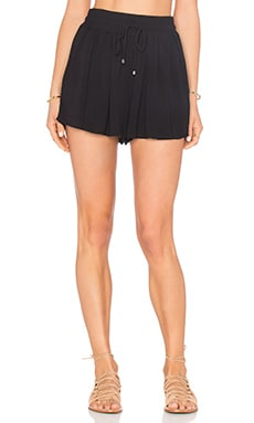 Splendid Crinkle Gauze Short in Black