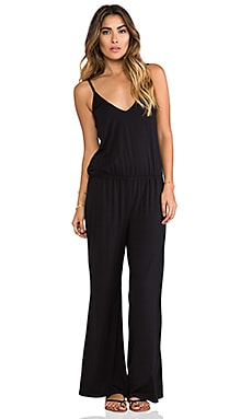 Splendid Essential Long Romper in Black