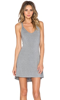 Splendid Knotted Chemise in Marled Heather Grey