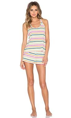 Splendid Drapey Short Set in Surf Stripe