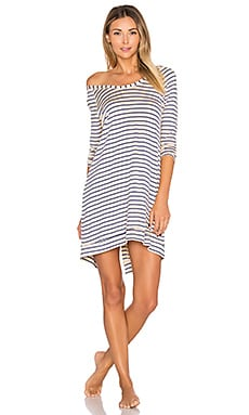 Long Sleeve Sleepshirt in Thin Stripe
