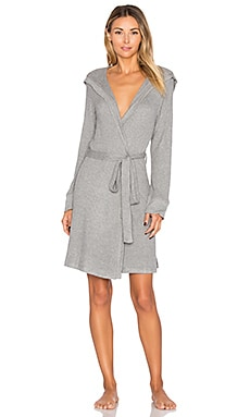 Classic Robe in Med Marled Grey Heather