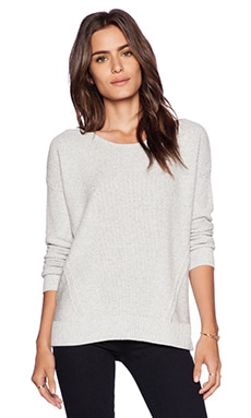 Splendid Marled Stitch Sweater in Heather Grey