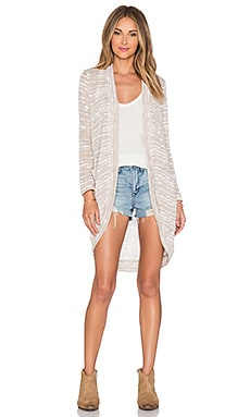Splendid Upstate Loose Knit Cardigan in Almond