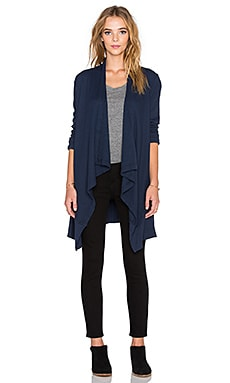 Splendid Thermal Wrap Sweater in Navy