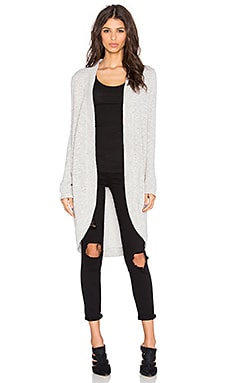 Splendid Sparkle Loose Knit Cardigan in Heather Grey