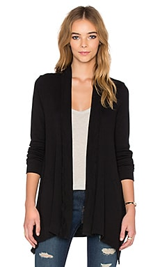 Splendid Drape Front Wrap in Black