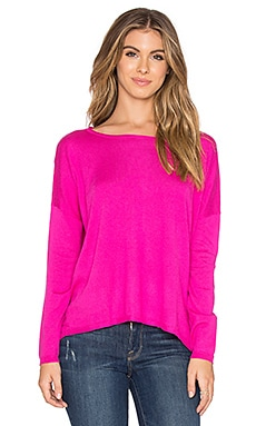 Splendid Cashmere Sweater in Electric Pink