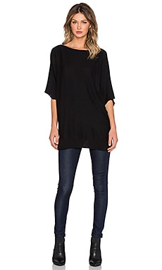 Splendid Cashmere Dolman Sleeve Sweater in Black