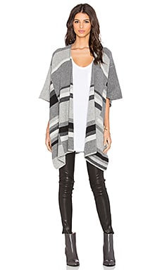 Splendid Mismatch Stripe Wrap in Heather Cinder Combo