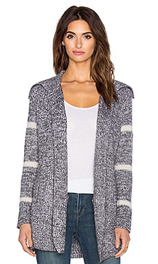 Splendid Stripe Cardigan in Heather Cinder