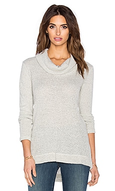 Splendid Whistler Loose Knit Sweater in Heather White