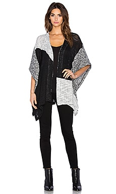 Splendid Lake Front Loose Knit Wrap in Black