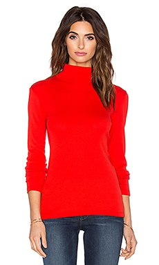 Splendid 1x1 Turtleneck Sweater in Fiesta