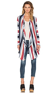 Rancho Stripe Knit Cardigan in Multi