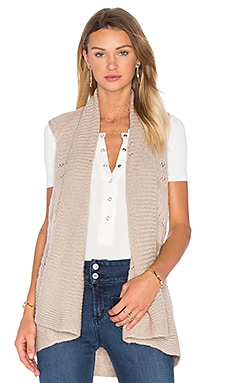 Pointelle Gilet Vest in Wheat