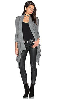 Waffle Loose Knit Wrap in Dark Heather Grey