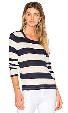 Cliffside Rugby Stripe Pullover in Navy & Natural