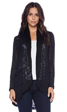 Splendid Hudson Melange Knit Cardigan in Black