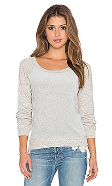 Splendid Velour Active Sweatshirt in Heather Grey