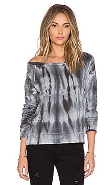 Splendid Velour Active Sweatshirt in Tie Dye