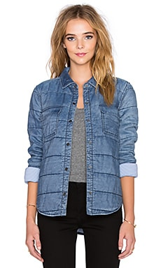Splendid Quilted Indigo Jacket in Medium Wash