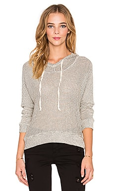 Splendid Chalet Mix Media Cowl Neck Hoodie in Natural
