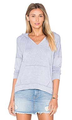 Splendid Teton Cozy French Terry Long Sleeve Hoodie in Heather Grey