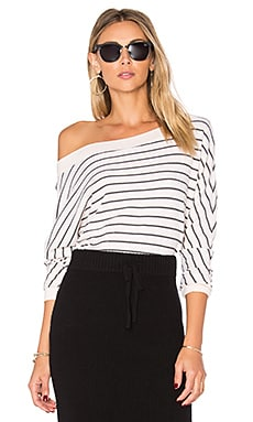 Alpine Stripe Sweatshirt in Ecru