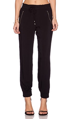 Splendid Rayon Voile Pant in Black