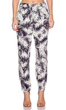 Splendid Palm Fronds Pant in Navy