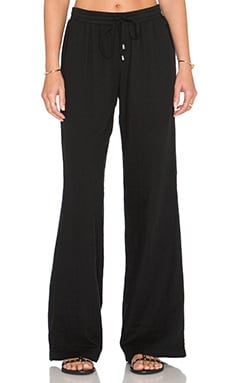 Splendid Double Cloth Drawstring Pant in Black