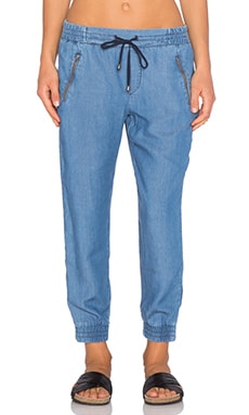 Splendid Rayon Voile Jogger Pant in Medium Wash