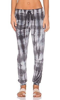 Splendid Velour Active Sweatpant in Tie Dye
