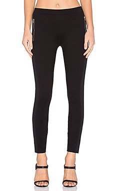 Ponte Mix Legging in Black